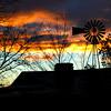 Santa Fe, New Mexico, Windmill Silhouette