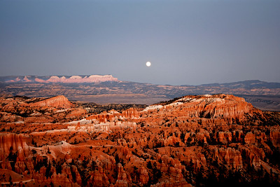 Nearly Full Moon over Bryce Canyon NP