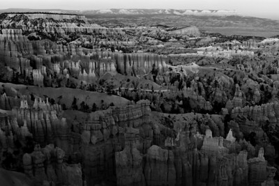 The Sunset Hour at Bryce Canyon, B&W