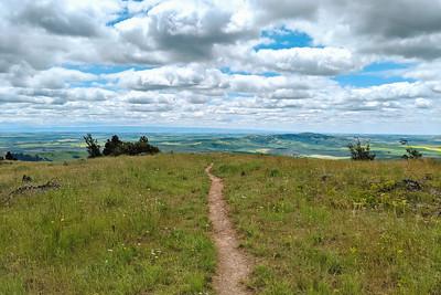 Palouse Hills at My Feet, Palouse Ridge Hike, Idaho