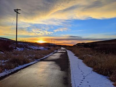 December Sunset on the Bill Chipman Palouse Trail