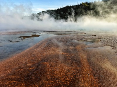Grand Prismatic Spring, Ripples & Steam