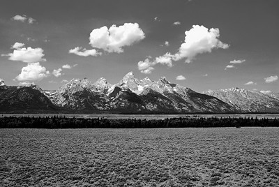 Grand Tetons, Black & White
