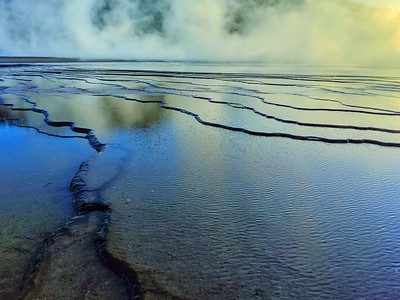 Grand Prismatic Spring, Layers