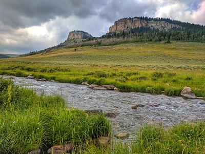 Twin Buttes, Bighorn National Forest, Wyoming