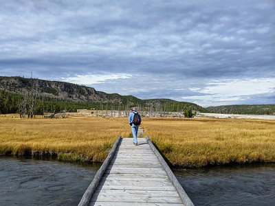 On the Boardwalk, Biscuit Basin, Yellowstone National Park