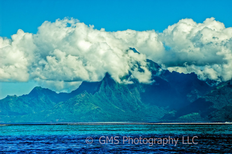 View Of Moorea From Tahiti
