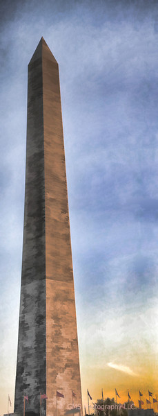 Washington Monument panorama photographed in 2004