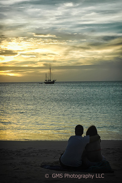 Sunset Love At The Beach