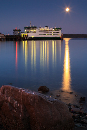Moonrise at Ferry Terminal