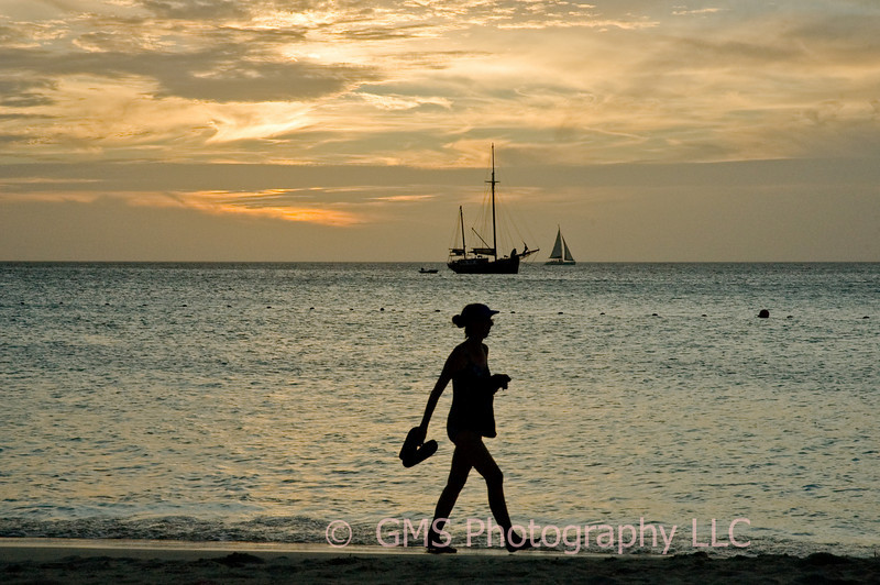 Sunset Stroll In Aruba