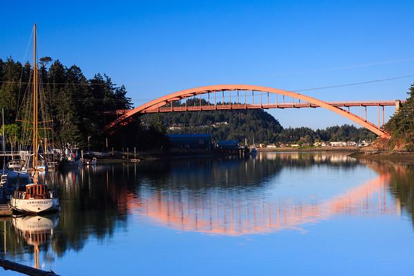 Reflection at the La Conner Bridge