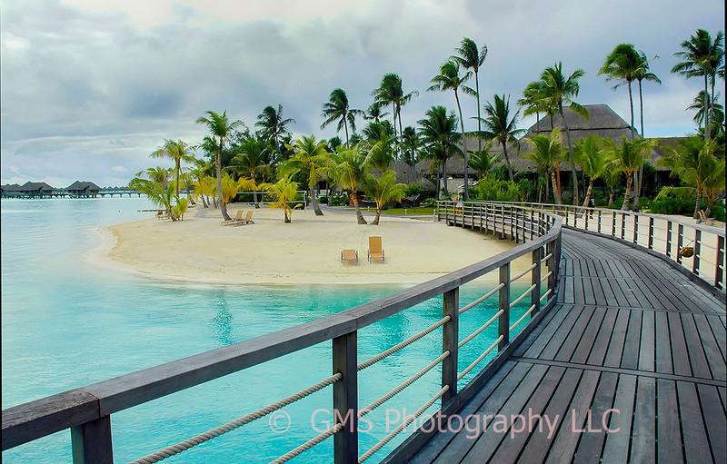 Walkway To The Beach In Bora Bora