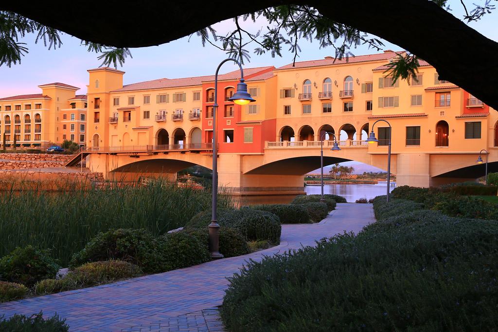 Pedestrian Walkway crosses Lake Las Vegas