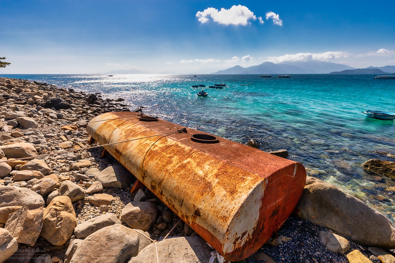 Rusting by the reef
