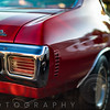 Rear End of a Muscle Car