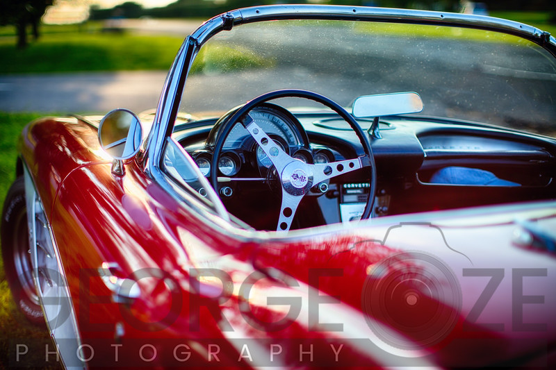 Red Classic Corvette Close Up