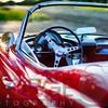 Red Classic Corvette Close Up