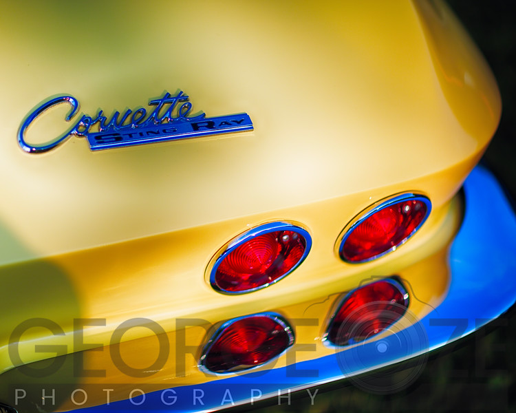 Beautiful Rear End of a Classic Chevrolete Corvette Stingt Ray Automobile
