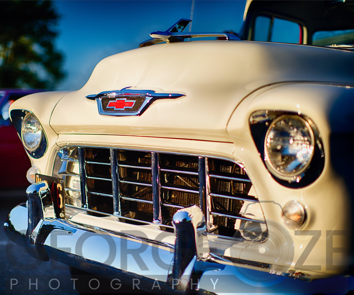 Classic Chevy Pick Up Truck Front View