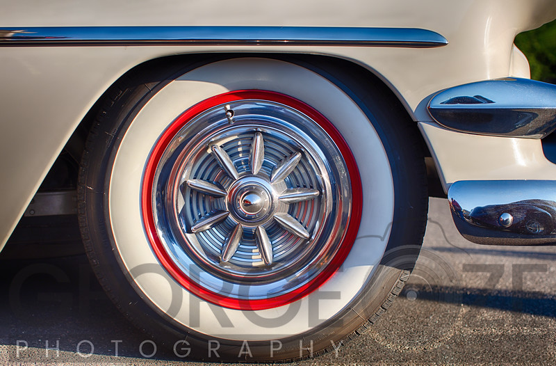 Classic Car With Whitewall Tire