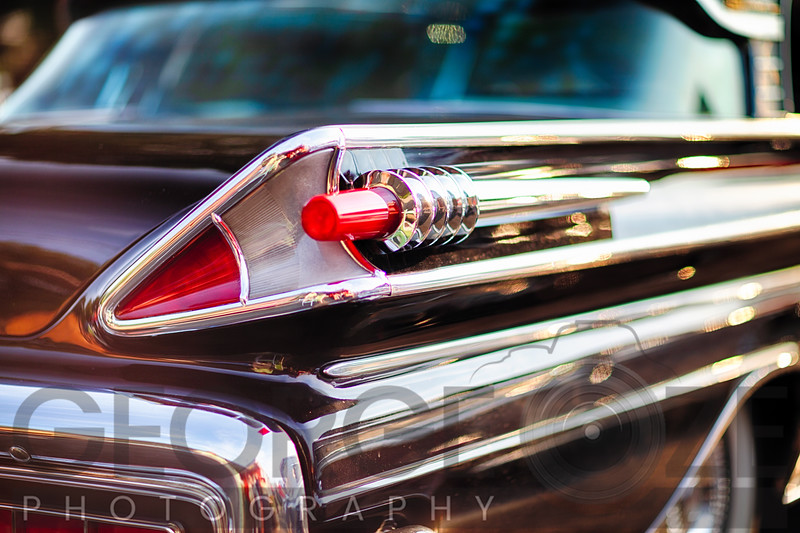 Tail Light Close Up of a 1958 Mercury Park Lane Sedan