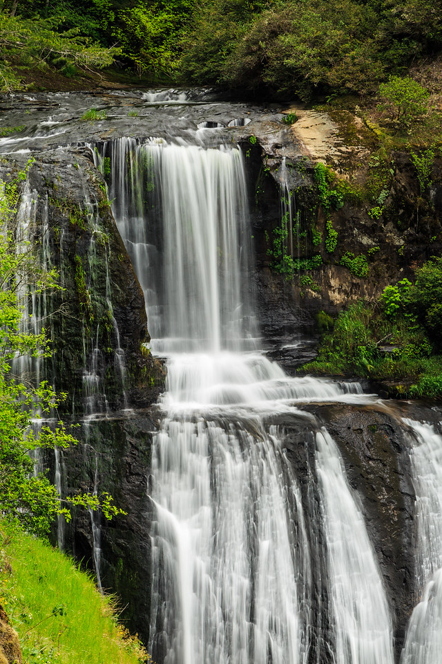 Upper level of Golden Falls at Silver and Golden Falls Oregon