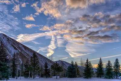 Winter Sunrise Over The Wood River Valley, Idaho