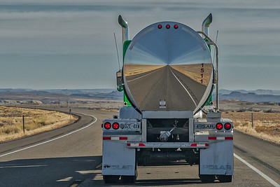 Tanker Truck Reflection, Utah