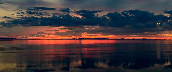 Great Salt Lake Sunset, Utah