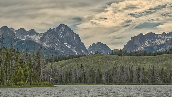 Cloudy Day in the Sawtooth Mountains, Idaho