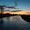 Sunrise on the High Line North Canal, Twin Falls, Idaho