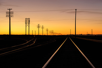 Sunrise on the Union Pacific Lines, Shoshone, Idaho