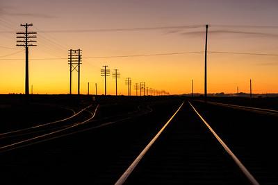 Sunrise on the Union Pacific Lines, Shoshone, Idaho