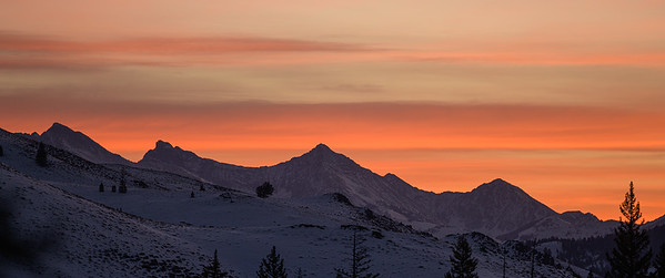 Winter Sunrise, Pioneer Mountains, Idaho