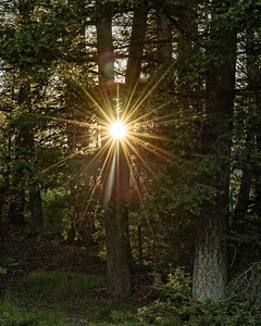 Sunset Sunburst, Smoky Mountains, Idaho