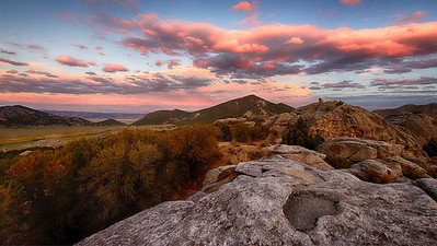 Sunset Over City of Rocks, Idaho