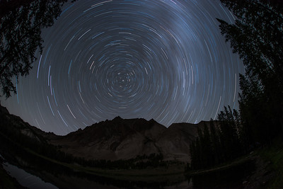 Castle Peak Star Trails