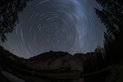 Castle Peak Star Trails