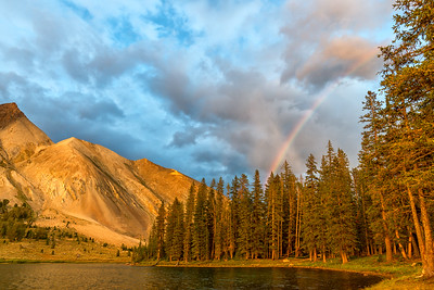 Rainbow at Sunset - Chamberlain Basin