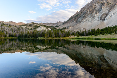 Chamberlain Basin Lake at the Foot of Castle Peak