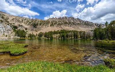 Castle Peak and Chamberlain Basin Lake