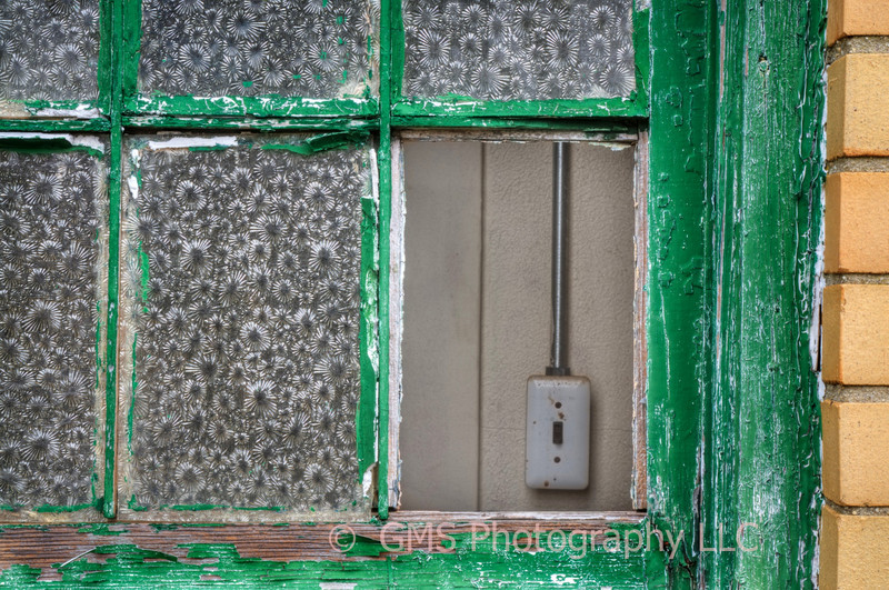 Glass window pane missing from building on Sandy Hook, New Jersey