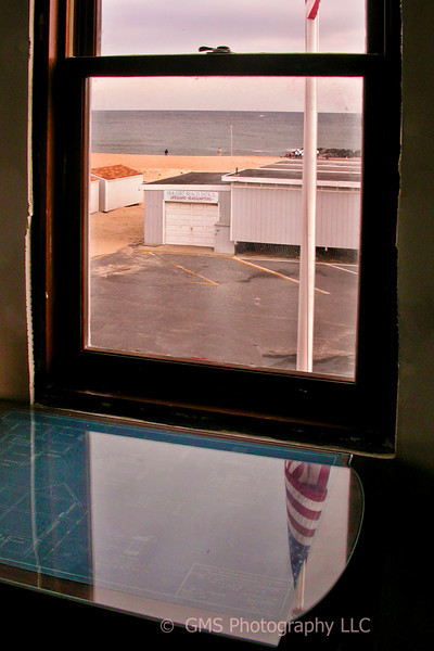 View from window of lighthouse at Sea Girt New Jersey during renovation in 2003.