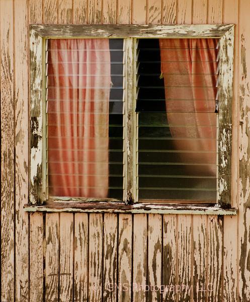 Weathered window Liberia Antigua