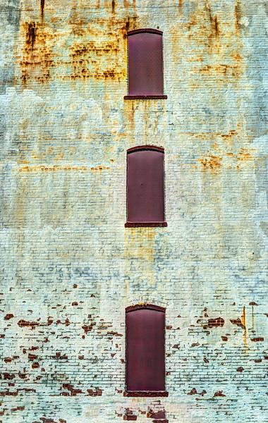 Three Non Windows On Textured Wall