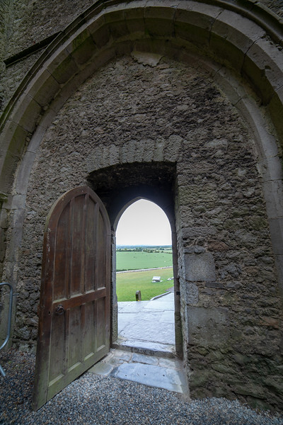 Castle Door Overlooking Landscape