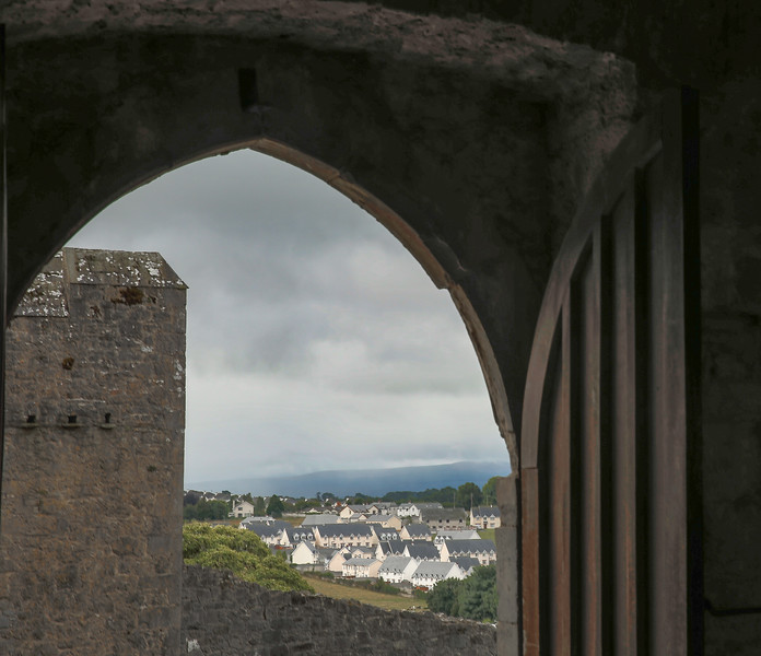 Landscape View Through Castle Door