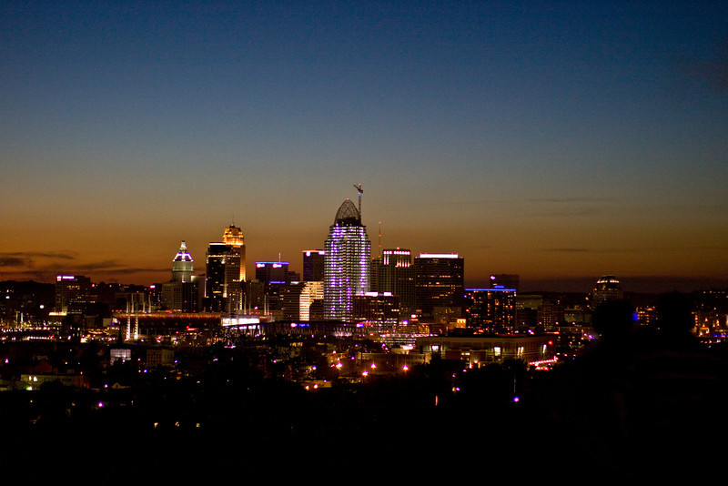 Sunset over Cincinnati