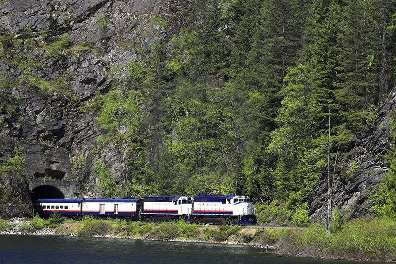 Train Coming Through the Rocky Mountains I